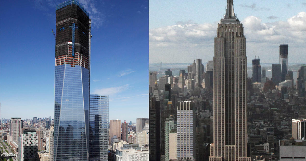 World Trade Center Tower Surpasses Empire State Cbs News