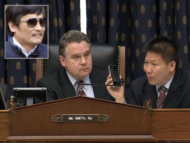 Chinese dissident Chen Guangcheng phoned a congressional hearing