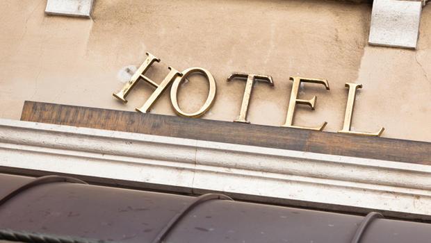 Old or Obsolete Hotel Sign.
