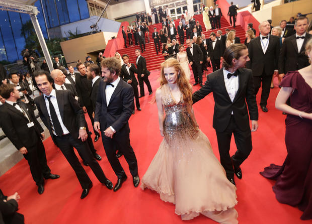 "Cannes: Hardy, Chastain bow with ""Lawless"""