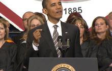 Obama speaks at Joplin High School graduation