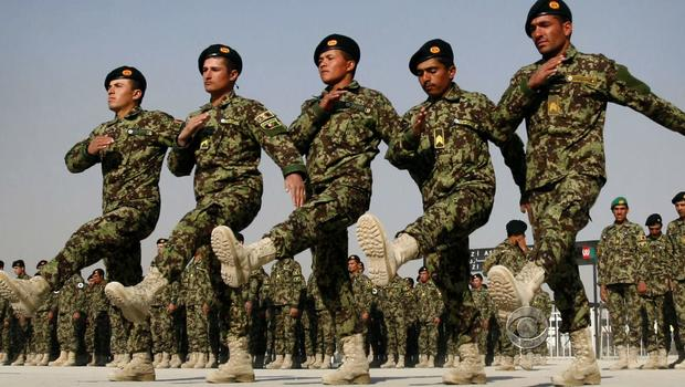 Afghan forces training
