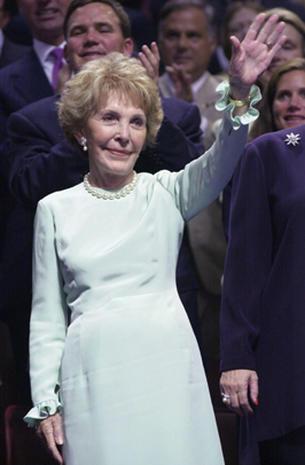 Nancy Reagan through the years