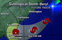 Beryl could put damper on holiday weekend in Southeast