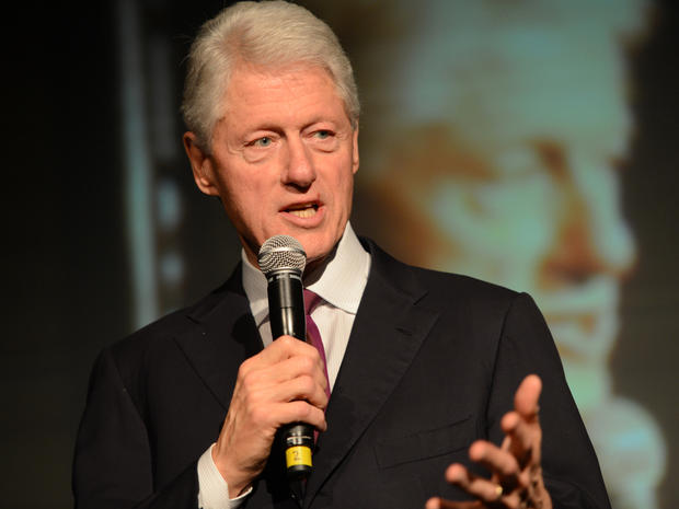 President Clinton speaks at A Night Out With The Millennium Network at the Old Vic Tunnels May 22, 2012, in London.