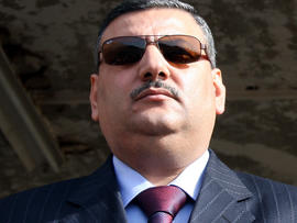 Then-Syrian Agriculture Minister Riad Hijab is seen Nov. 24, 2008, in Quneitra, Syria.