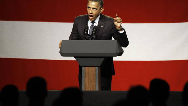 President Barack Obama speaks at a campaign fundraiser