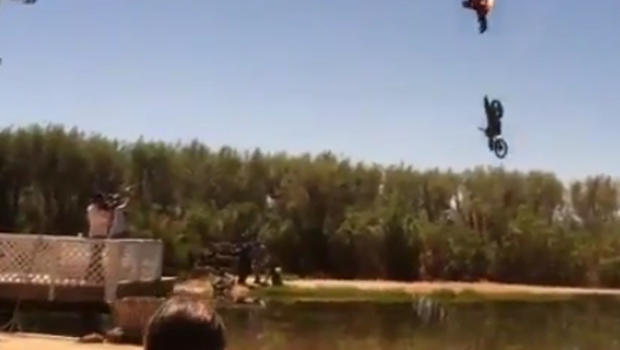 Motorcyclist crash on tape