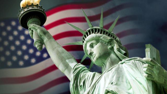Statue of Liberty, New York harbor,