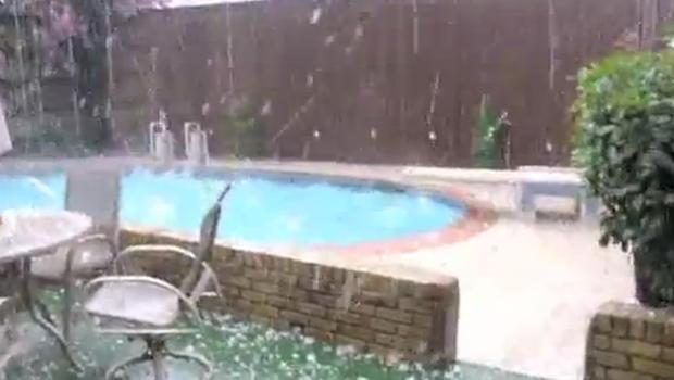 Hail stones in Dallas