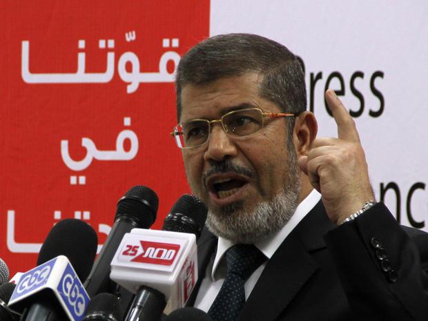 Muslim Brotherhood presidential candidate Mohammed Morsi