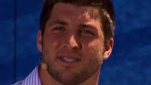 Tim Tebow at San Diego's Qualcomm Stadium, where he gave Father's Day sermon 6/17/12