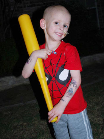 Firefighters honor boy with cancer