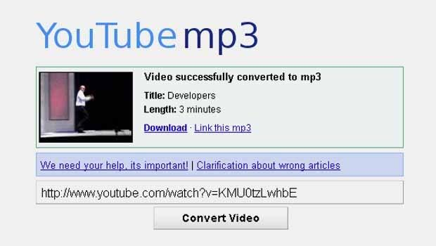 how to watch youtube in mp3
