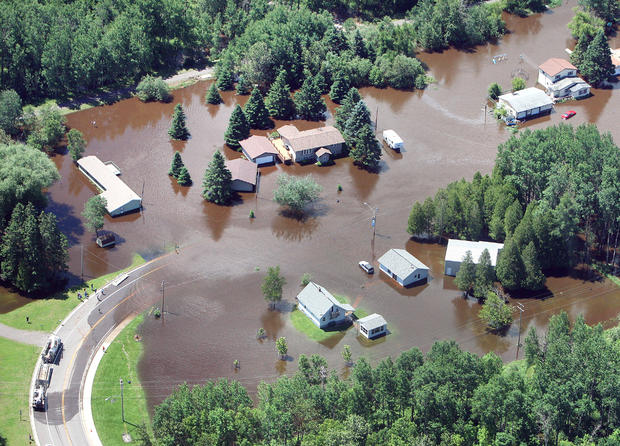 Record rains and flooding in Minn.