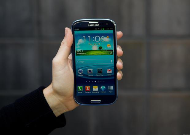 The Samsung Galaxy S3.