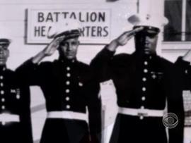 Montford Point Marines salute.