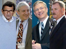 Joe Paterno, Graham Spanier, Tim Curley and Gary Schultz