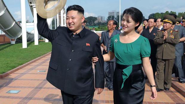 North Korean leader Kim Jong Un is accompanied by his wife Ri Sol Ju