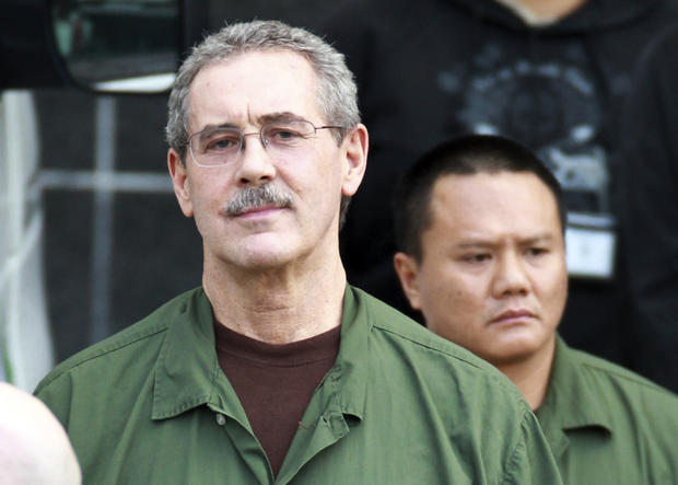 In this March 6, 2012 file photo, R. Allen Stanford leaves the Bob Casey Federal Courthouse in Houston, Texas.