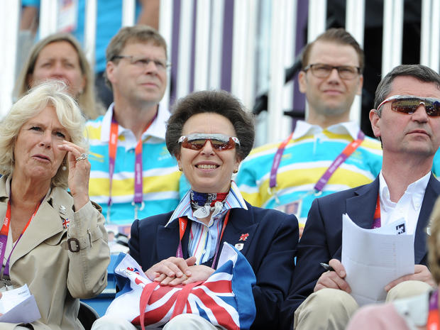 Royals cheer on Zara Phillips at Olympics