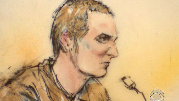 Court illustration of Jared Lee Loughner on Tuesday, Aug. 7, 2012.