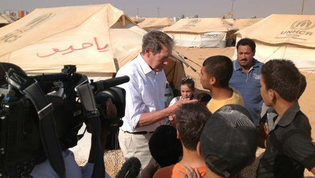 Charlie Rose in a Syrian refugee camp