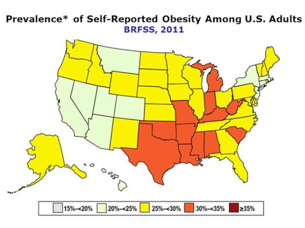 cdc obesity map