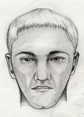 This sketch shows the suspect wanted in connection with the reported sexual assault of Jenn Gibbons