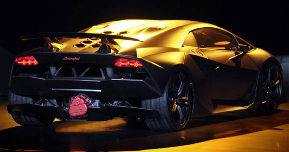 Lamborghini Sesto Elemento Engine Lamborghini S 2m Supercar Cbs News