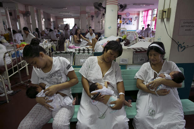Manila hospital copes with baby boom
