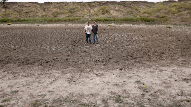 drought, farm, pond, kansas