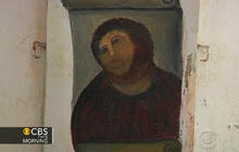 Tourists line up to see ruined Spanish fresco