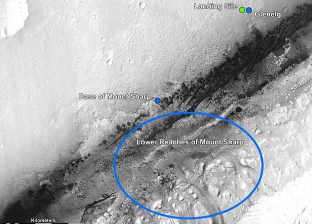 "Mars rover Curiosity ""treasure map"""
