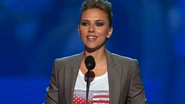 Scarlett Johansson reaches out to youth vote at DNC