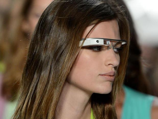 Models sport Google Glass on runway
