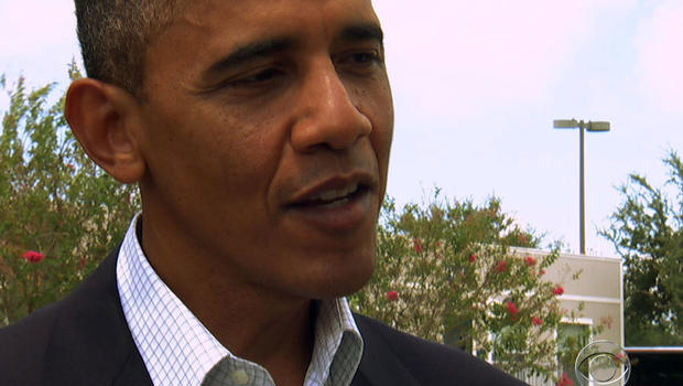 President Obama said he would reach a compromise with Republicans on the budget if re-elected.