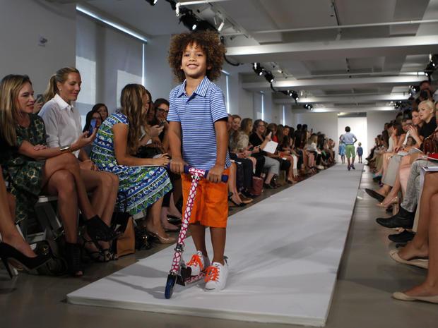 Cute kids on the runway