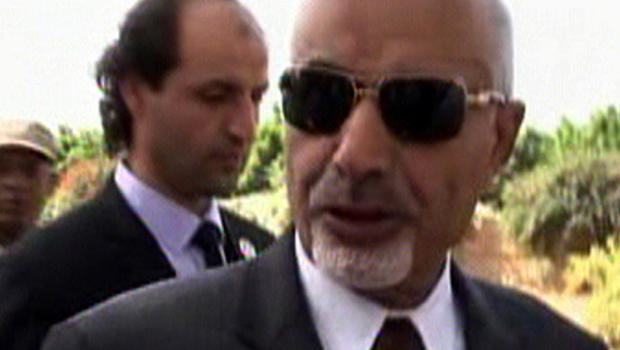 Libyan President Mohamed Yousef El-Magariaf answers a question during an interview in Benghazi, Libya, Sept. 14, 2012.