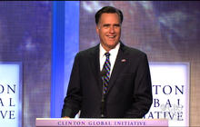 "Romney jokes about ""Clinton bump"""