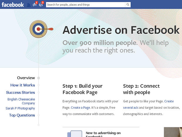Information about advertising on Facebook