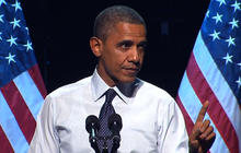 Obama mocks own debate performance