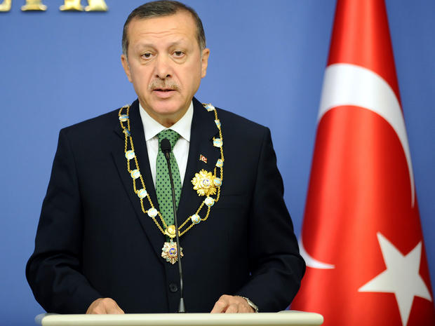 Turkish Prime Minister Recep Tayyip Erdogan speaks during a news conference in Ankara, Turkey, Oct. 11, 2012.