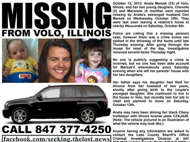 Police search for missing Ill. mom, 2 daughters