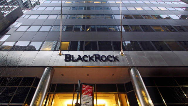 The New York headquarters of investment management firm BlackRock