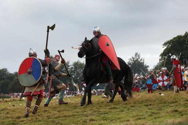 Re-enacting the Battle of Hastings
