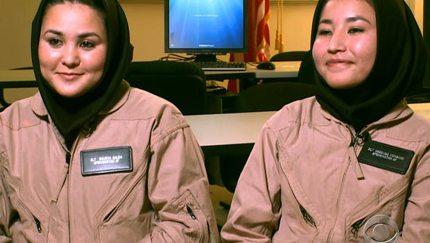 Sourya Saleh and Masooma Hussaini are the first two Afghan women to go through the U.S. Army's helicopter flight school at Fort Rucker, Ala.