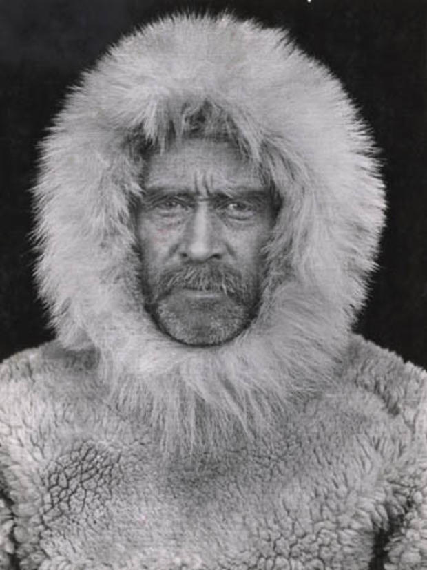 This 1908 photo made by an unidentified photographer and provided by National Geographic via Christie's Auction House, is a portrait of Arctic explorer Adm. Robert E. Peary in Cape Sheridan, Canada. The photo is among a small selection of the National Geo