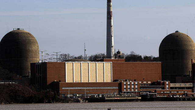 A boat moves along the Hudson River in front of the Indian Point nuclear power plant March 18, 2011, in Buchanan, N.Y.