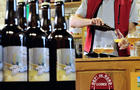 """A """"La brasserie du pays Flamand"""" employee works on October 4, 2012, at a brewery in Blaringhem, France."""